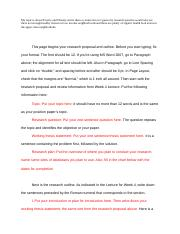 Wk 4 Document Format Research Proposal Outline