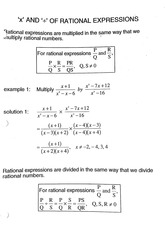MATH 11 Fall 2010 Multiply and Divide Rational Expressions Lecture Notes
