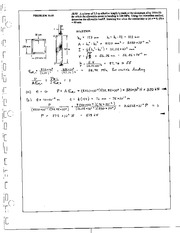 1270_Mechanics Homework Mechanics of Materials Solution