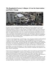 The Bangladesh Factory Collapse.docx