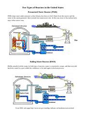 Two Types of Reactors in the United States