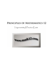 Principles of Math 12  - Trigonometry II Practice Exam