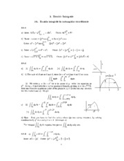 3. Double Integrals Solutions