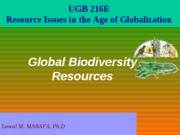 Lecture_4_Global_Biodiversity_Resources_2008B