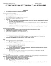 PSY 101 Section 2 Notes