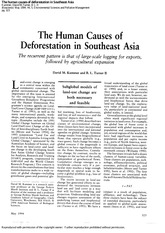 The human causes of deforestation in Southeast Asia