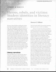 Heroes, Rebels, & Victims, Students Identies in literacy narratives.pdf