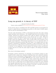 LEC8 A theory of TFP