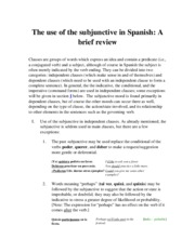 Test review subjunctive