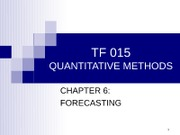 C6, S2 Time series forecasting