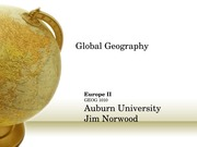 Global Geography Norwood Lecture  Europe II-2