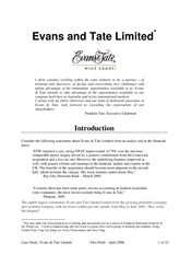 evans & tate casestudy