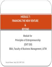MODULE 7 FINANCING THE NEW VENTURE.pptx