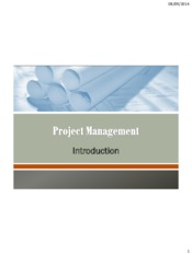 Lecture 1 Introduction of project management for Project Management for Chemical Engineering