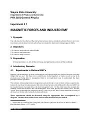 Magnetic Forces & Induced EMF Lab Report.pdf