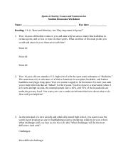 Sports in Society Chapter 8 Discussion Questions