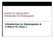 Henry IV, Lecture 1