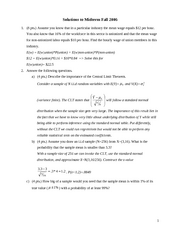 Econ 281 Fall 2006 Midterm Exam - Solutions_1