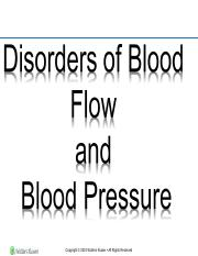 Disorder of blood flow and blood pressure