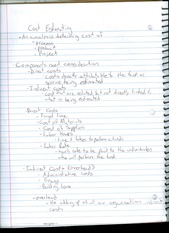 Cost Estimating Notes