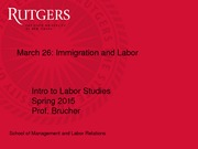 Immigration and Labor slides