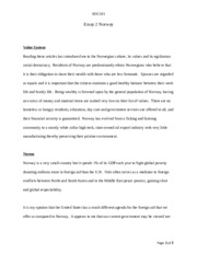 SOC101-Essay 2 Norway