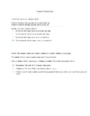 Chapter 3 Review Quiz