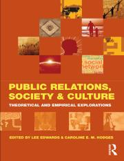 Lee Edwards, Caroline E. M. Hodges Public Relations, Society & Culture Theoretical and Empirical Exp