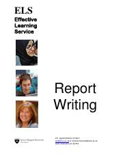 WRTG 394 Advanced Business Writing - Report Writing (2014)