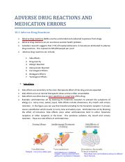 Module+10+Adverse Reactions and Medication Errors