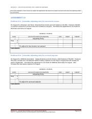 Unit 13 Unearned Revenue, Accrued Expense, and Accrued Revenue Adjustments (Assignment - 2 pages)(2)