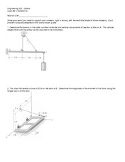 Exam 2 Version 1 Fall 2012 on Statics
