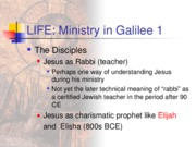 11 & 12 Ministry in Galilee 1 pp 90-103