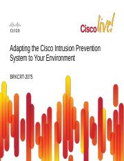 Adapting the Cisco Intrusion Prevention System to Yor Environment.pdf