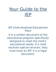Your Guide to the IEP