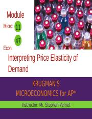 Sec 9 Mod 47 - Main - Price Elasticity of Demand