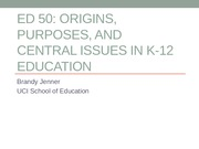 EDUCATION 50: Standards Based Reforms  Lecture (Jenner)