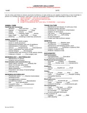UC Davis Lab Skill Sheet