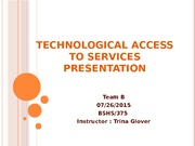 Technological Access to Services Presentation