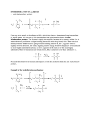 HYDROBORATION OF ALKENES