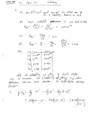 Phys 203 Most Probable Outcomes Review Question Solutions