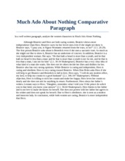 Much Ado Comparative AP