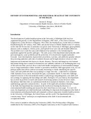 HISTORY OF THE DEPARTMENTAL OF ENVIRONMENTAL HEALTH SCIENCES (REVISED)(2012).doc