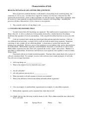 characteristics of life review worksheet.pdf ...