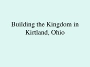 3--History--Building the Kingdom in Kirtland,1