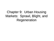 6 Sprawl - Housing notes