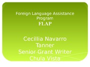 Foreign Language Assistance Program