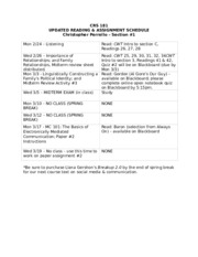 CRS 181 2014 updated readings & assignments