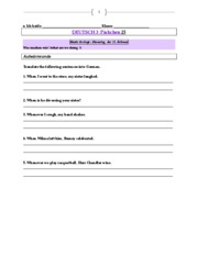 German 3 Weekly Packet 25