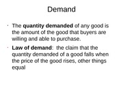 Demand Shift Notes